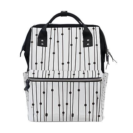 Bolsa de pañales para mamá, bolsa de pañales de mayor capacidad, diseño de lunares