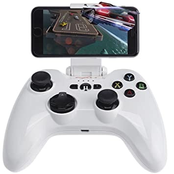 Wireless Gaming Gamepad, Megadream MFi iOS Game Controller Joystick  Compatible with iPhone Xs XR X 8 8Plus 7 7Plus 6S 5S 5, iPad, iPad Mini 4,  iPad