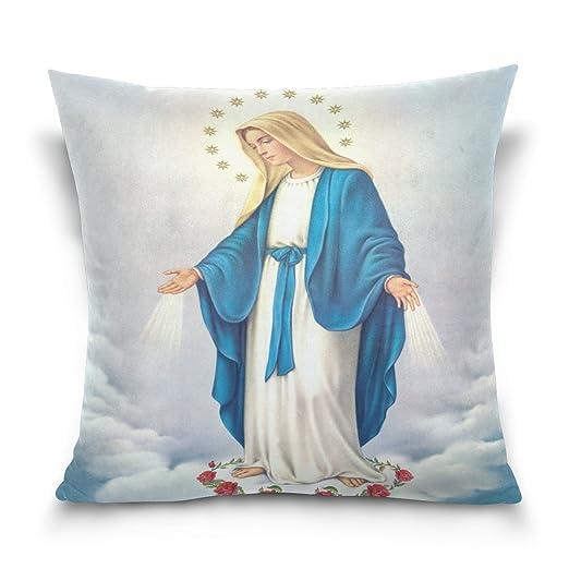 Donnnapink funda de almohada con cremallera de la Virgen ...