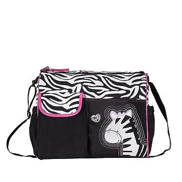 Mochilas de Bebé Bolsa De Pañales Cambiar Pañal Bolso Multifunctional para madre -Patrón Giraffe Negro: Amazon.es: Electrónica