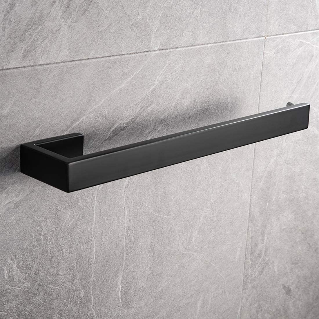 Aothpher Towel Rail for Bathroom SUS304 Stainless Steel Modern Towel Ring Wall Mounted Hand Towel Holder 35cm Matte Black