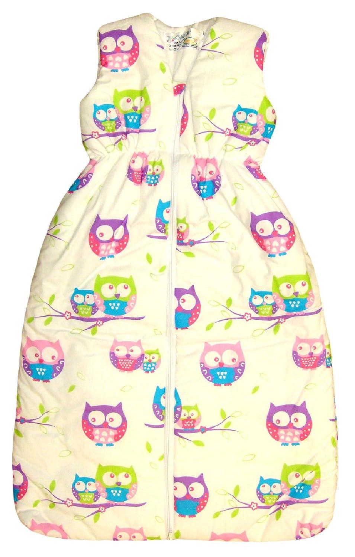 Baby- und Kleinkinder-Schlafsack BOMIO Schlafsack Baby ganzjahres//ganzj/ährig 100/% Baumwolle Oeko-Tex zertifiziert | Hellblau B/ärchen 70 cm 0-6 Monate sicherer komfortabler Schlaf