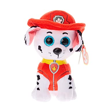 40998f8a4af Claire s Girl s TY Beanie Boo Small Paw Patrol Marshall Soft Toy Red ...