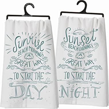 Primitives By Kathy Two Sided Kitchen Towel - Sunrise/Sunset