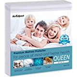 """AirExpect Waterproof Mattress Protector Queen Size 100% Cotton Hypoallergenic Breathable Mattress Pad Cover, 18"""" Deep…"""