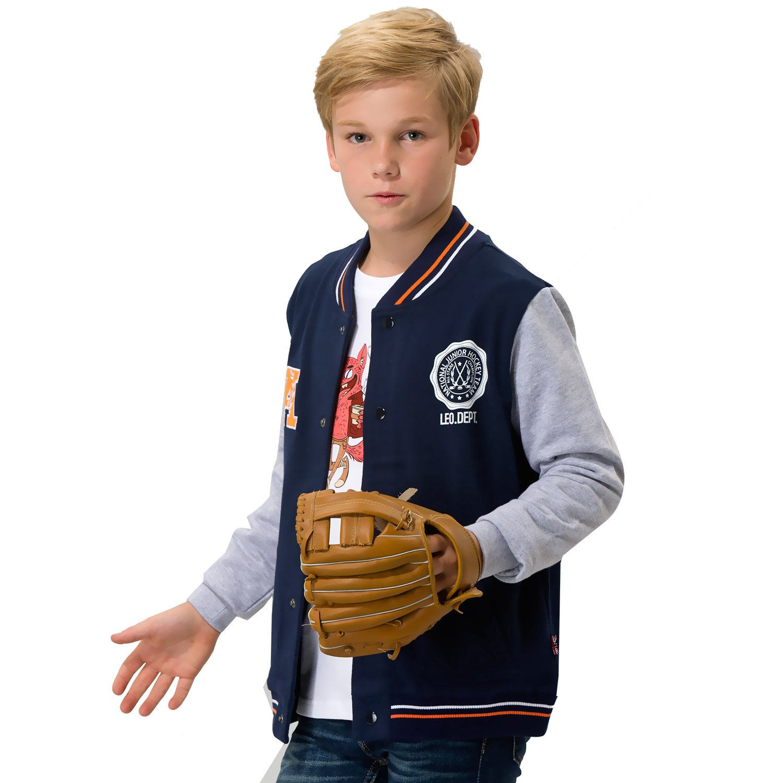 Leo& Lily Boys' Casual Sport Baseball Jacket Blazer Sweatshirts Pullover LLB1315-Navy-10-$p