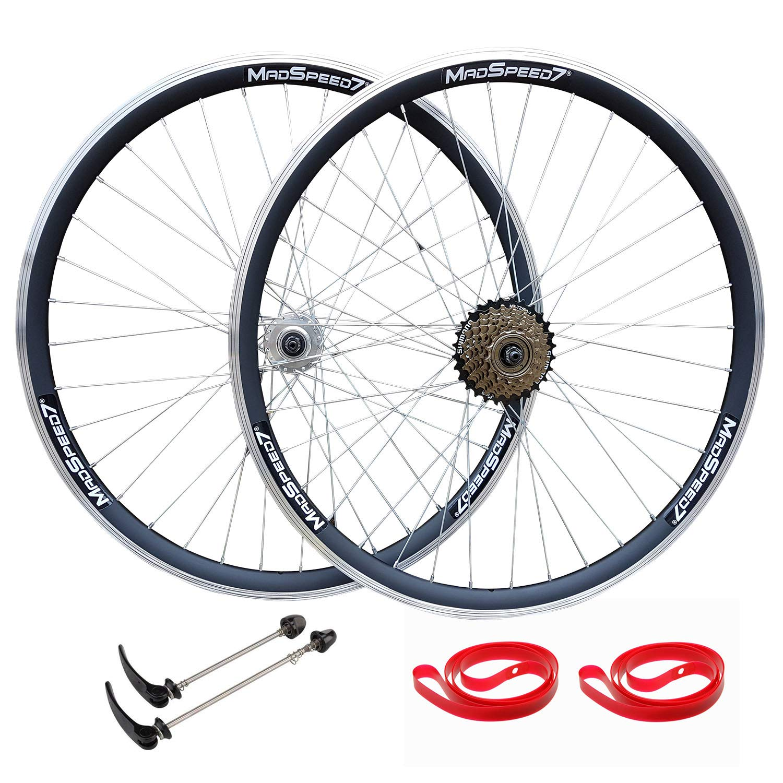 700c Hybrid 29er MTB Cyclocross Bike Bicycle Rear Wheel 7//8//9//10 Speed Rim Disc