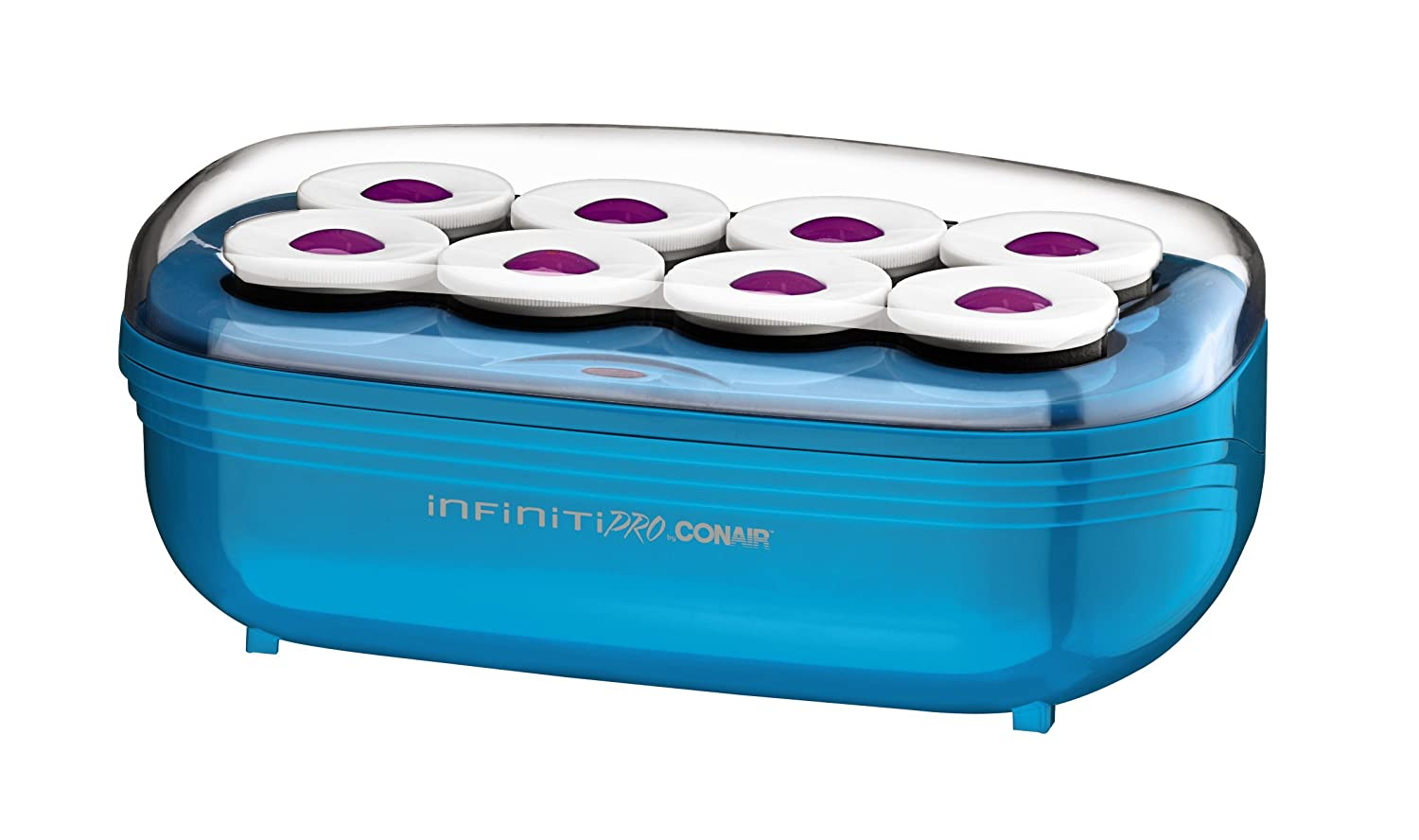 INFINITIPRO BY CONAIR Instant Heat Toumaline Ceramic Flocked Hot Rollers; 2-inch for Mega Volume and Smooth Waves CHV28