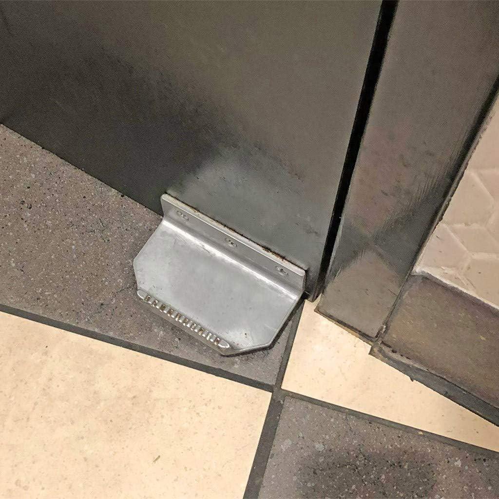 restaurante y cafeter/ía hogar black Abridor de puerta de pie sin contacto,WYZTLNMA soporte de manija de metal grueso Accesorios de apertura de puerta de conveniencia para oficina