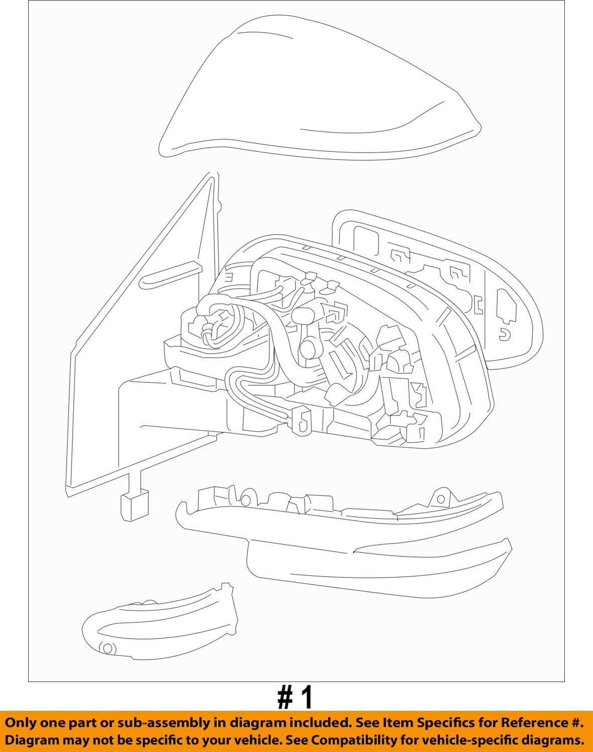 Genuine Toyota 87910-0R080-B1 Rear View Mirror Assembly