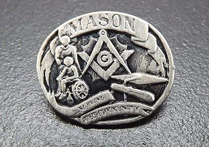 Amazon com: Pin for Jackets - Pewter Mason Masonic PIN Blue