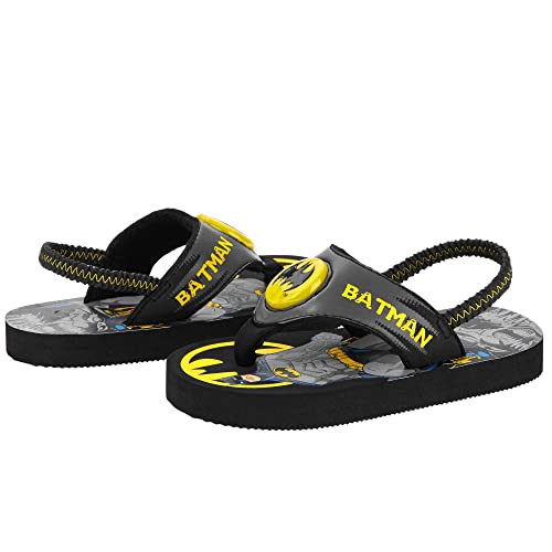 90c843e8ee8ee7 Batman Led Light up Flip Flop Beach Shoes Toddler Little Boys