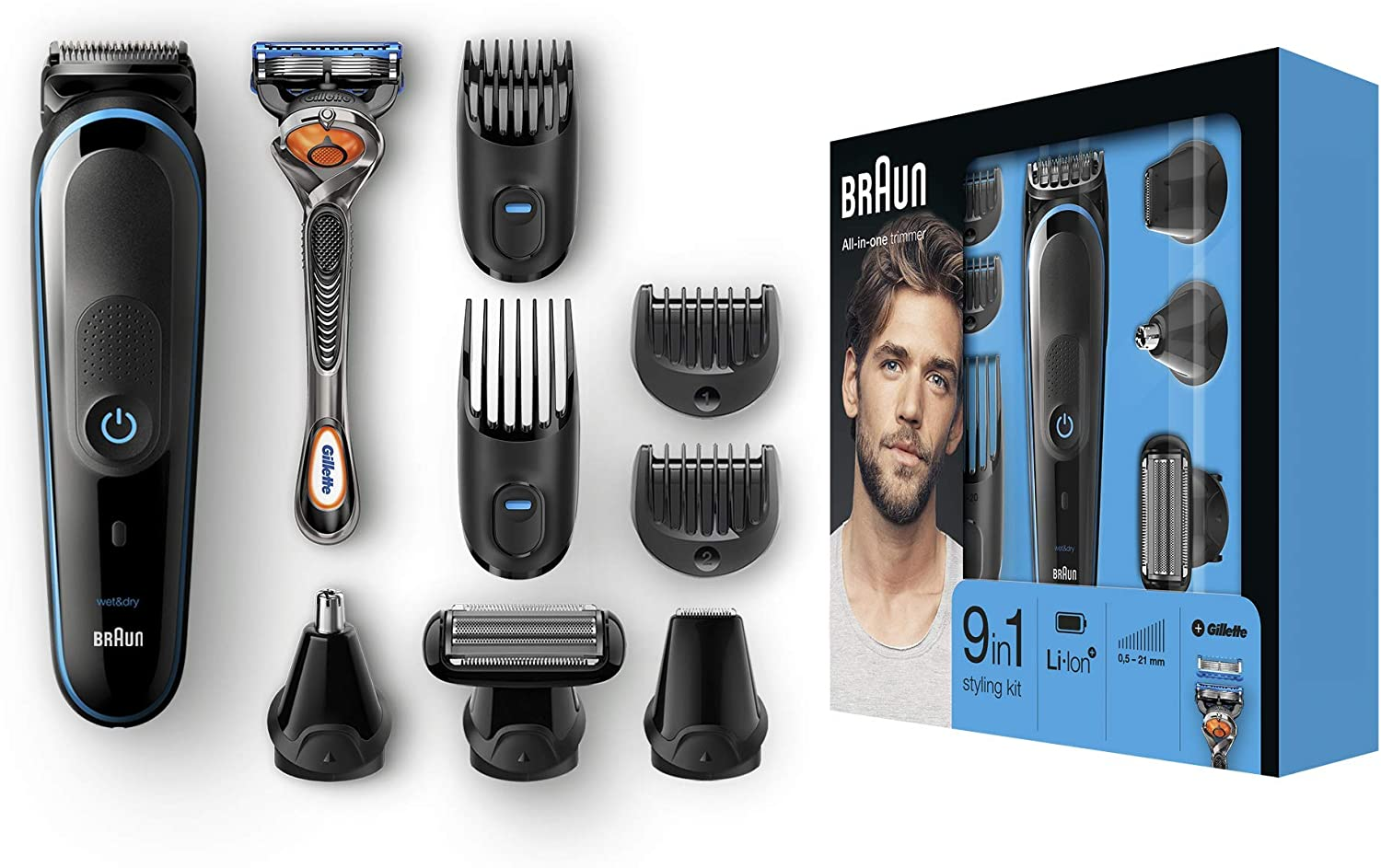 Braun All-in-one MGK5080 depiladora para la barba Mojado y seco ...