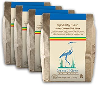 product image for Great River Milling, Specialty Flour, Brown Teff Flour, Non-Organic, 5 lb (Pack of 4)