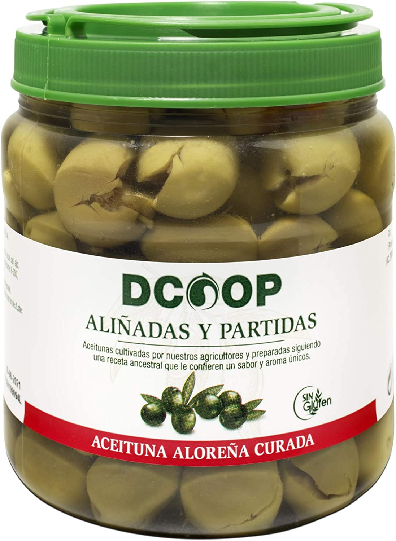 DCOOP Aceitunas Aloreñas Primera Partida, Ideales para Ensaladas y Aperitivos Sanos, 400 Gr Pne 750 g