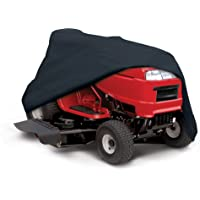 """Classic Accessories 55-081-010401-00 Lawn Tractor Cover, Black, Up to 54"""" Decks"""