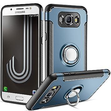 Funda Samsung Galaxy J7 2016,Coolden Galaxy J710 Funda con Anillo Kickstand 360 Grados Giratorio Ring Grip Carcaca J7 2016 Doble Capa de Protección ...