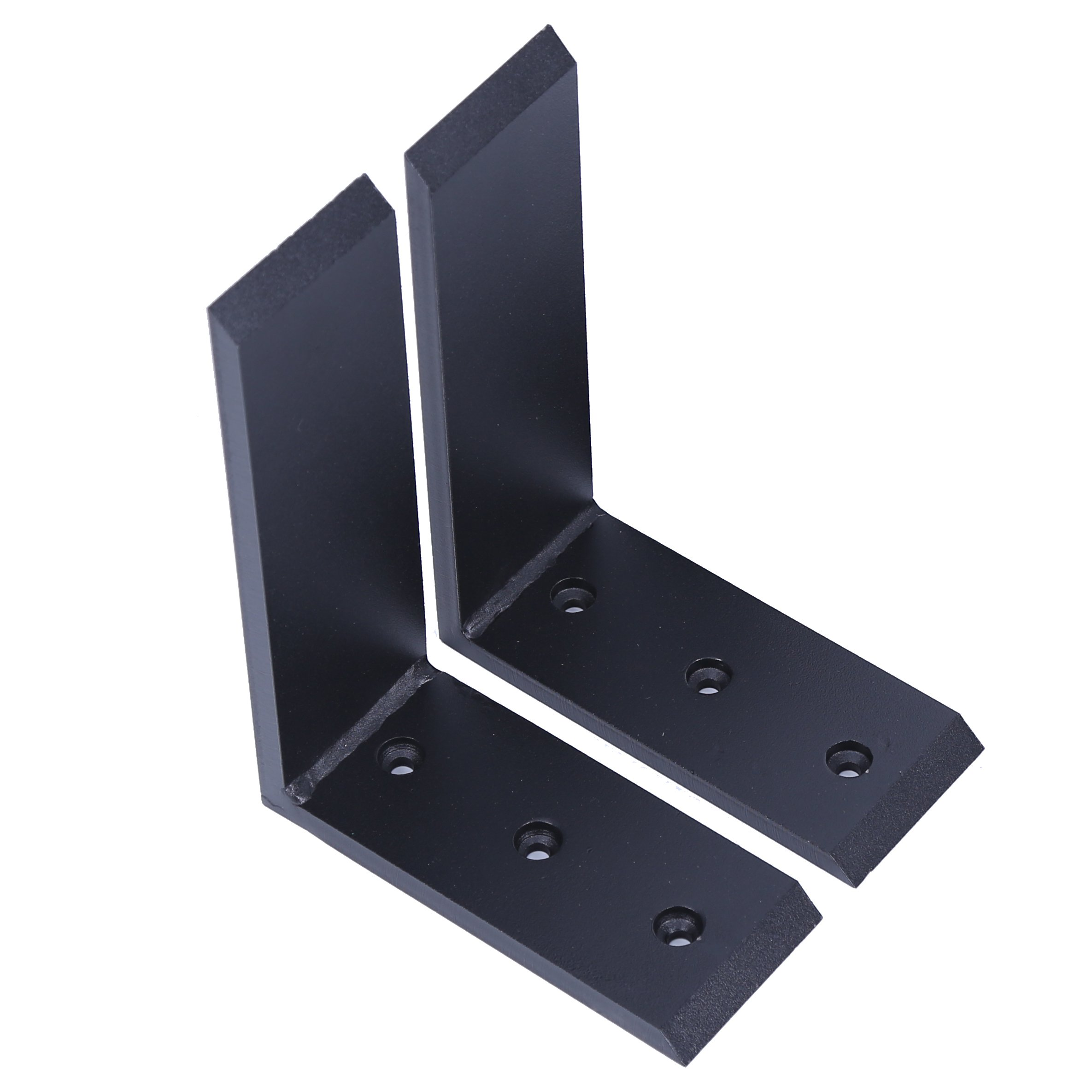 "New 2 Heavy Duty Black Steel 6""x8"" Countertop Support Brackets Corbel Lot L Shelf"