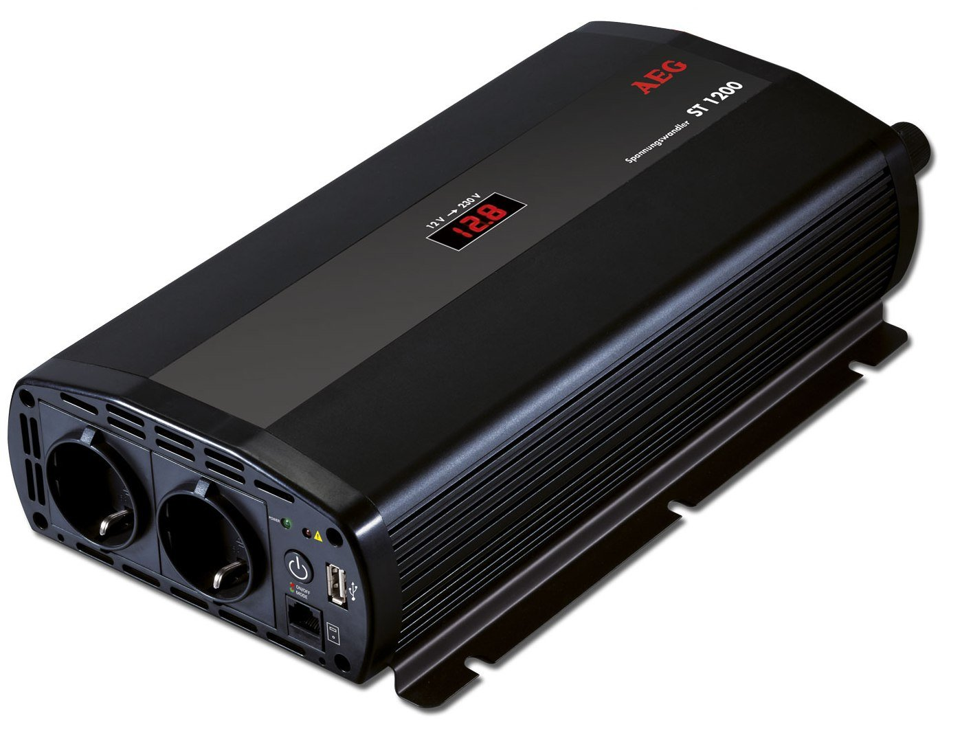 Aeg 97117 spannungswandler st 1200 watt 12 volt auf 230 volt mit