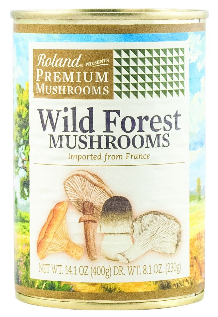 Roland Mushrooms, Wild Forest, 14.1 Ounce (Pack of 4) by Roland