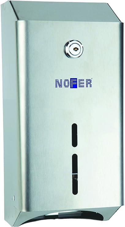 Nofer 05107.b Nova – Dispensador Doble bulkpack Inoxidable Brillante Plata 29,5 x