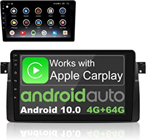IYING Android 10.0 Car Stereo for BMW 3 Series E46 (1999-2004) Support Wireless CarPlay & Wired Android Auto 4GB+64GB 9