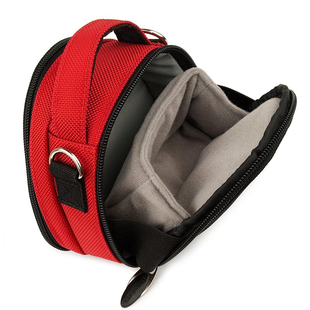 Red YI 4K Action Camera Top-Handle Handbag Camera Case by Vangoddy (Image #3)