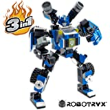 ROBOTRYX 3 In 1 Robot Toy SNABGLIDER Action Figure | Fun Creative STEM Toys Set | Construction Building Toys For Boys Ages 6 7 8 9 10 11 12 13 14 Years Old | Coloring Poster Gift Included