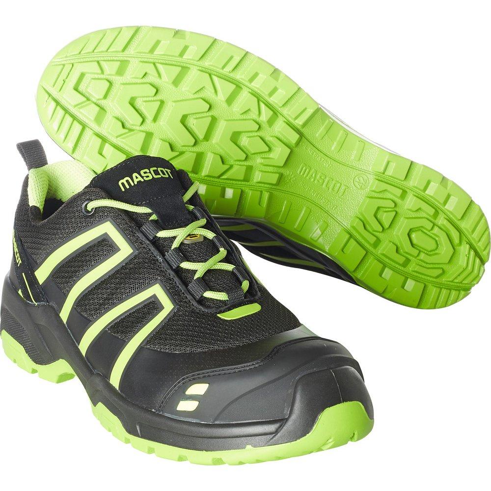 Mascot F0124-773-0917-1043 SAFETY ShoeS1P Size W10/9 43, Black/Hi-Vis Yellow