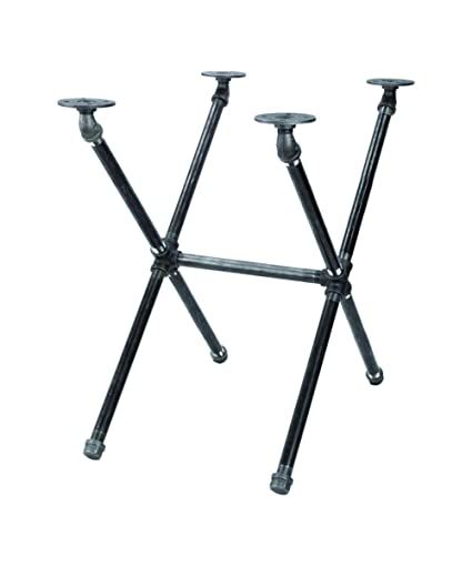 Incredible Industrial Pipe Decor Table Leg Set Rustic End Table Side Table Base Kit Dark Grey Black Steel Metal Pipes Vintage Furniture Decorations Diy Coffee Machost Co Dining Chair Design Ideas Machostcouk