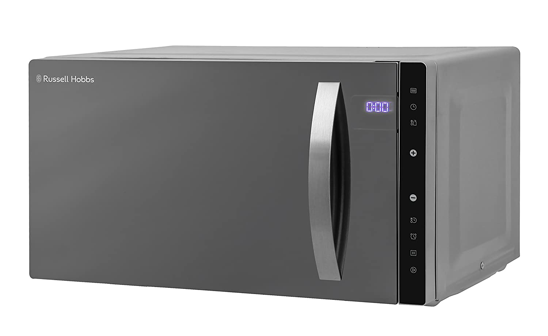 Russell Hobbs microondas digitales, Cama plana de 23 litros, RHFM2363B (plata)