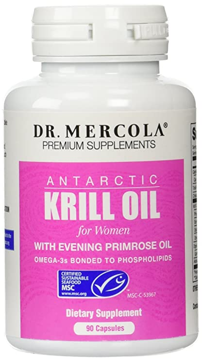 Dr. Mercola Krill Oil for Women - 90 Capsules - With Evening Primrose Oil -