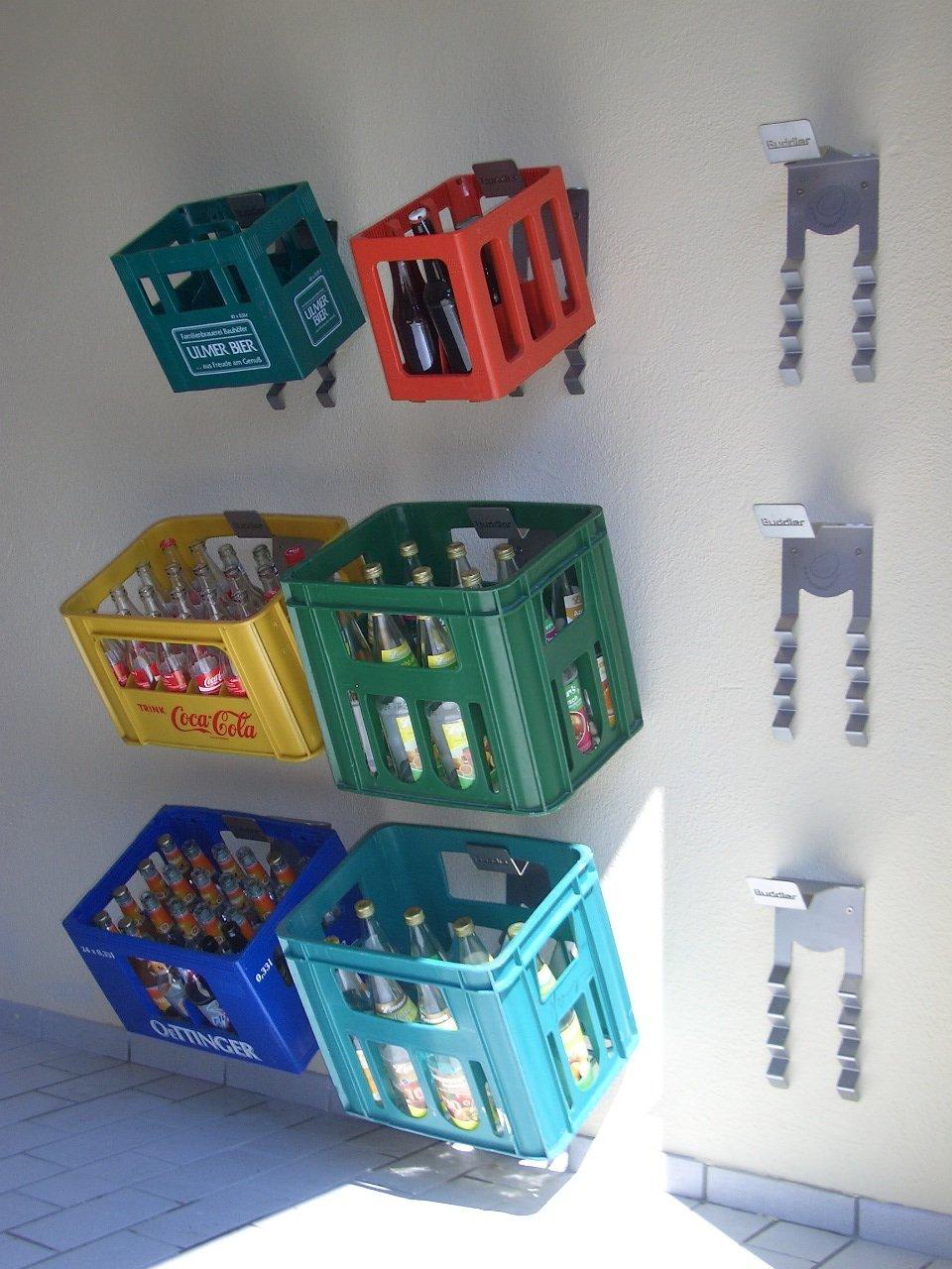 Getränkekisten Schrank buddler aufhänger box amazon de küche haushalt