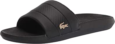 Lacoste Mens Sandals Lacoste Frasiers Sliders Flip Flops Beach Sandal White Size
