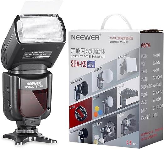 Neewer PRO i-TTL Flash Deluxe Kit para NIKON: 750II iTTL Kit de ...