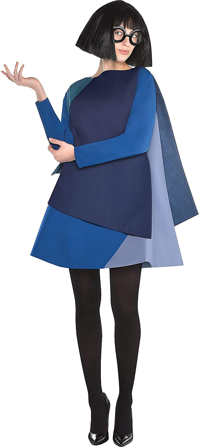 Amazon Com Party City The Incredibles 2 Edna Mode Halloween Costume For Women Disney Includes Wig And Glasses Clothing