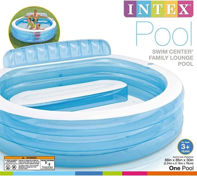 Amazon.com: Intex Swim Center Family Lounge Piscina: Jardín ...