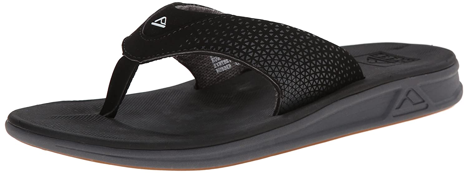 Reef Mens Sandals Rover | Athletic Sports Flip Flops For Men With Soft Cushion Footbed | Waterproof