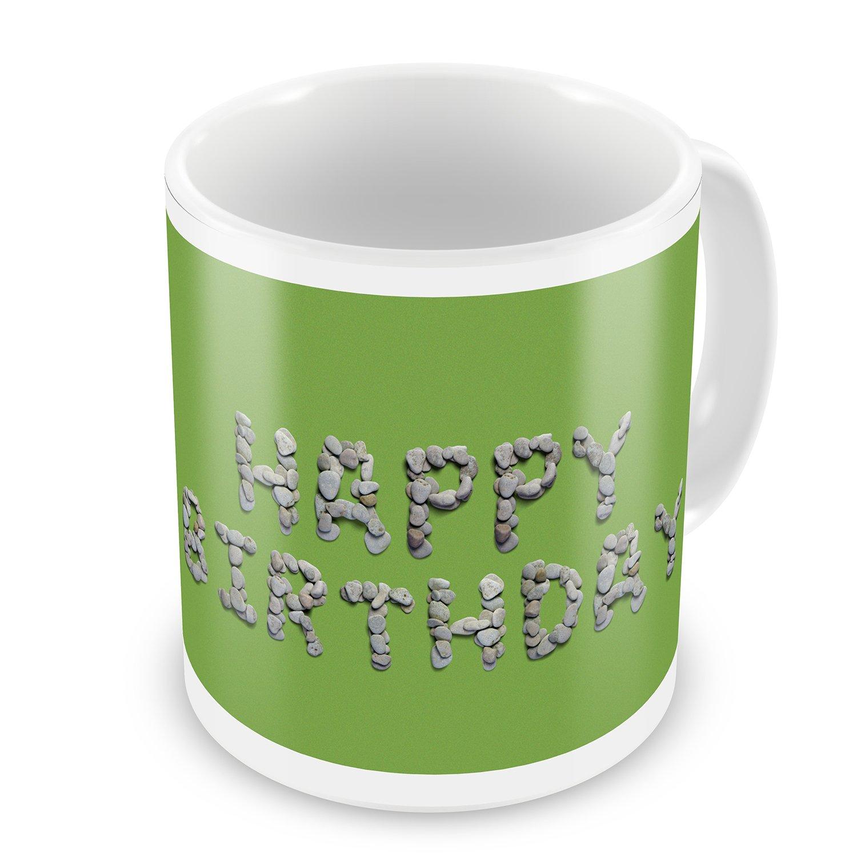 Coffee Mug Happy Birthday Spa Stones - NEONBLOND