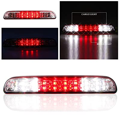 Sanzitop LED 3rd Brake Light Fit for 99-16 Ford F-250 SD F-350 SD F-450 SD F-550 SD, 93-11 Ford Ranger, 95-03 Mazda B2300 B400 High Mount Brake Light YC3Z13A613BA (Chrome Housing Red Lens): Automotive