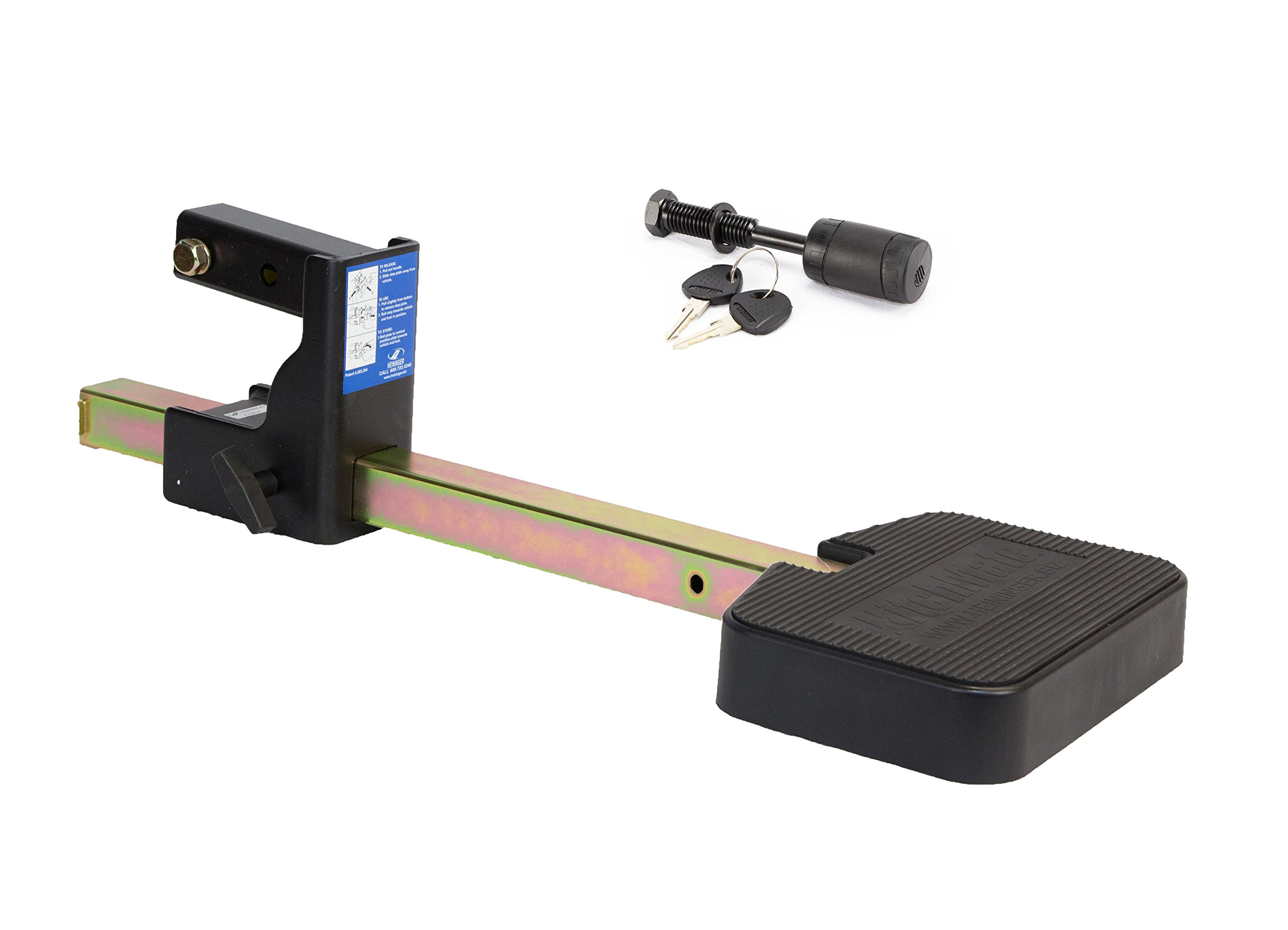 Heininger 4038 Mate Step XL with Hitch Lock for Full Size Trucks by Heininger