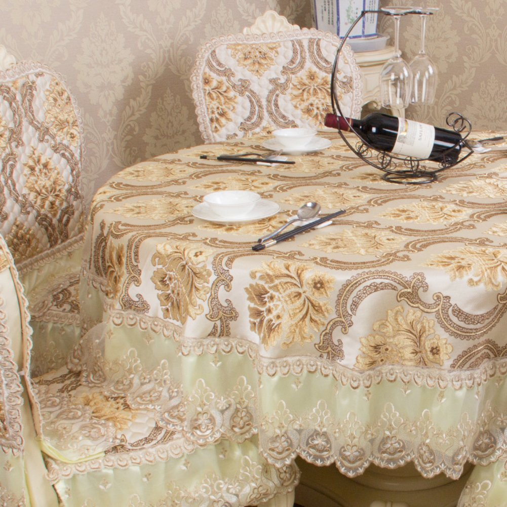 European round table Cloth lace table cloth Household round table cloth Hotel tablecloth-A diameter250cm(98inch)