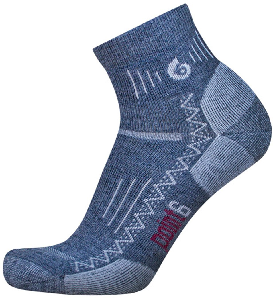 point6 Hiking Tech Medium Cushion Mini Crew Socks (Gray, X-Large) by point6