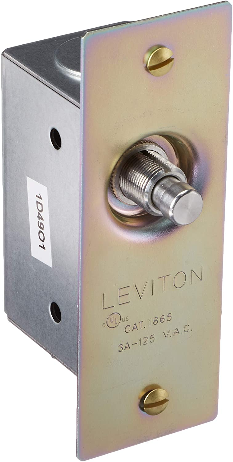Leviton 1865 3 Amp 125 Volt Single Pole Doorjamb With Jamb Box Switch Single Circuit Momentary Normally On Commercial Grade Brass Amazon Ca Tools Home Improvement