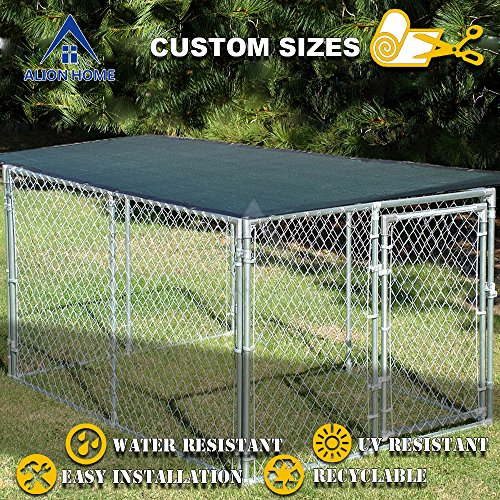 Alion Home Sun Block Dog Run & Pet Kennel Shade Cover (Dog kennel not included) (10' x 6', Dark Green) by Alion Home (Image #2)