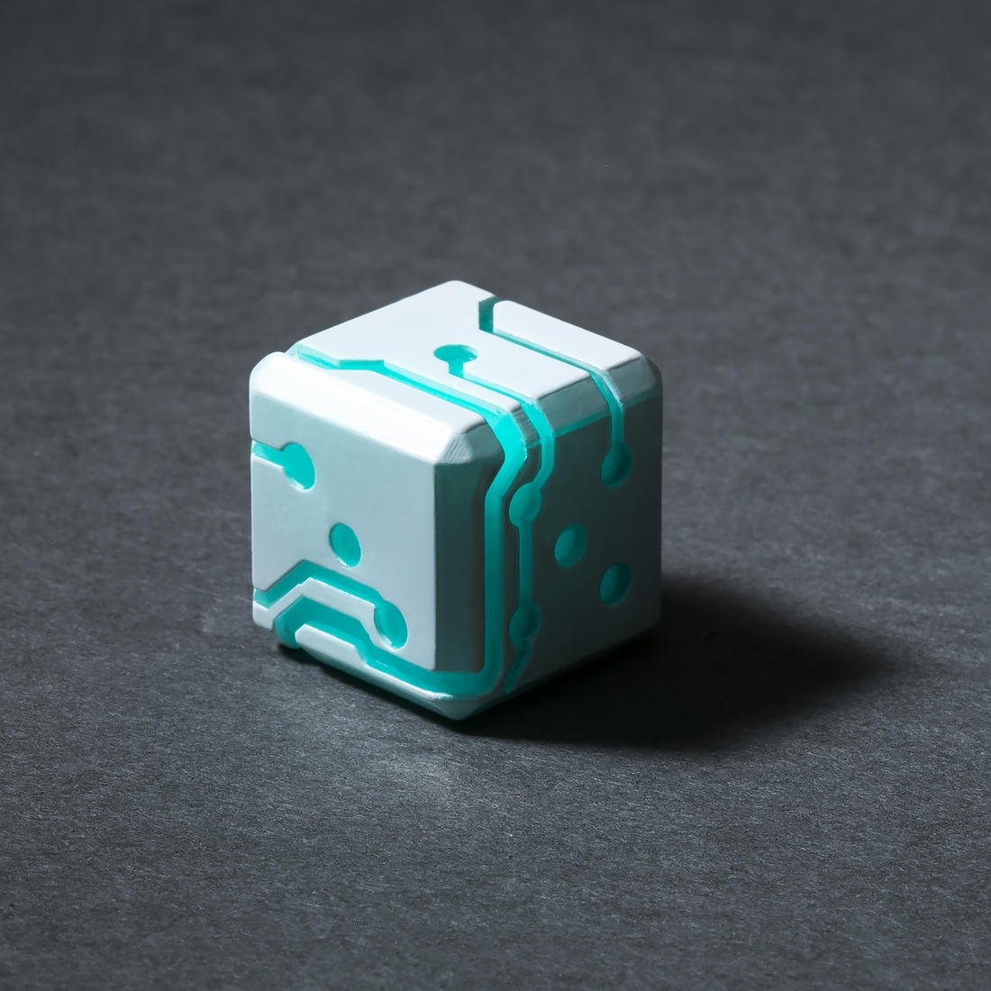 Space Roller Science Fiction Würfel : Blau auf Weiss