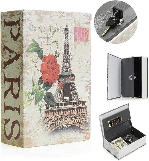 SAFEPRINT Tyon Vintage libro Caja fuerte con llave, libro de ...