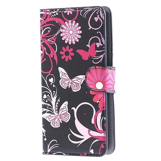 46 opinioni per Huawei Y635 Cover,PU Cuoio Flip Case Caso Con carte di credito slot Portafoglio