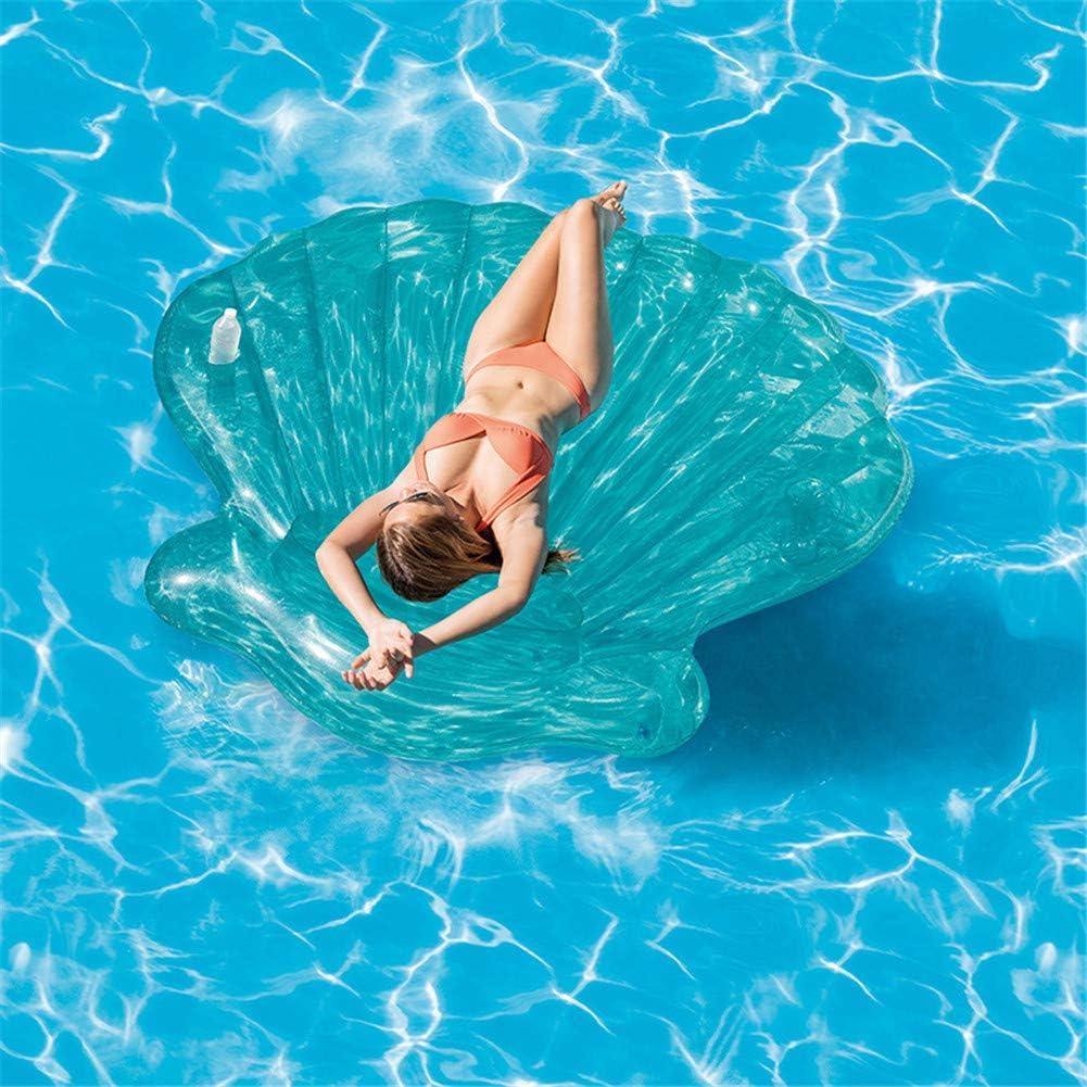 WYX Nuevo Concha Inflable Flotador De Piscina Concha Swimmming Pool Scallop Row Aqua Lounger Tubo Flotante Flotador De Piscina Anillo De Natación