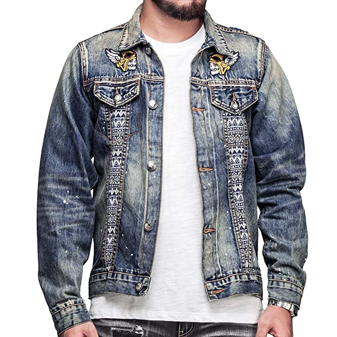 Amazon.com: HEA Jeans Denim - Chaqueta para hombre: Clothing